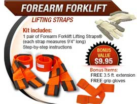how to use forearm forklift straps