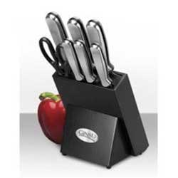 Ginsu 8 Pc Stainless Traditional Set Black