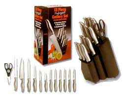 Ginsu Prof.  Stainless 13 Pc