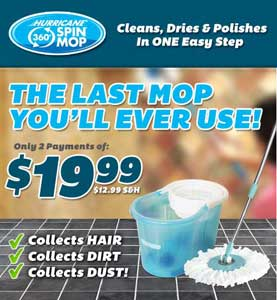 Hurricane Spin Mop System As Seen On Tv Products