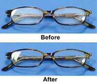 SCRATCH REMOVAL KIT FOR EYEGLASSES - EYEGLASSES