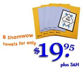 Shamwow 8 pc Set