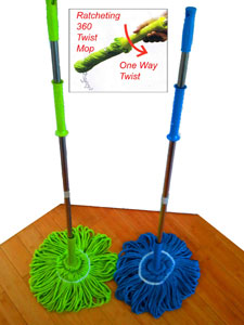 Miracle Ratchet Microfiber Twist Mop As Seen On Tv Products
