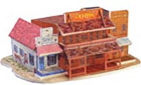 Western Saloon 3-D Puzzle